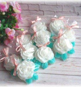 Бонбоньерки розочки сувенирное мыло