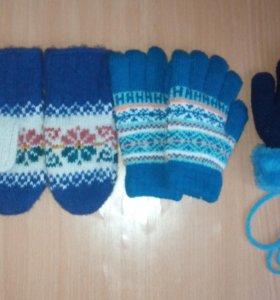 Детские варежки и перчатки новые