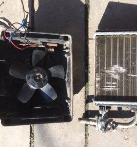 Мотор и радиатор печки 2106