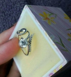 Кольцо серебро 16 размер, 925 проба