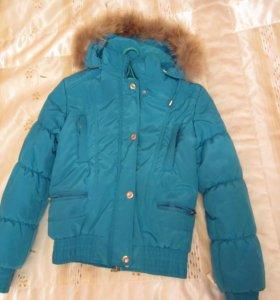 куртка бирюзового цвета