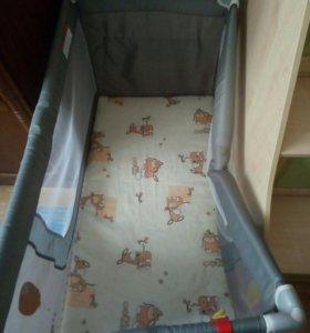 Детский манеж-кровать,складной