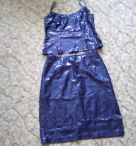 Костюм юбка с топиком