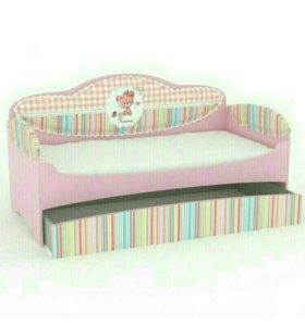 Кровать - диван для девочек