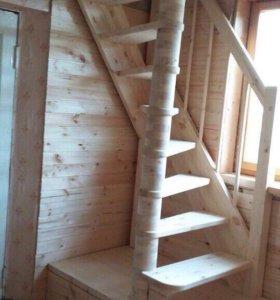 Деревянные лестницы (на второй этаж)