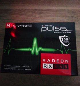 Видеокарта Radeon rx550 2Gb