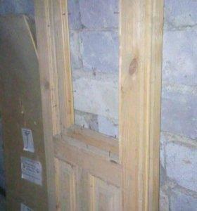 Двери деревянные, сухие, новые
