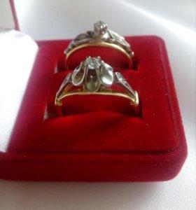 Кольцо золото 750 с бриллиантами СССР
