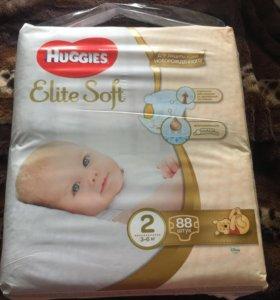 Подгузники Huggies Elite Soft 2 3-6 кг. 88 шт.