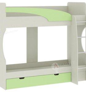 Детская кровать 2х ярусная - Карамель 77-02