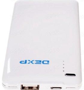Портативный аккумулятор DEXP SLIM S белый