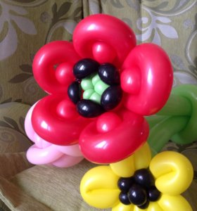 Цветы из шаров 2