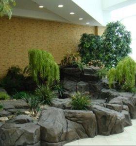 Пруды, фонтаны, водопады, гроты, ландшафт