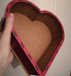 Коробочка-сердце, шкатулка