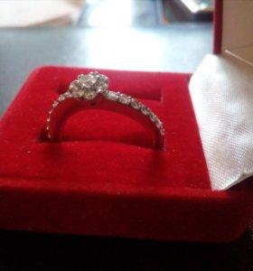 Кольцо золото 750 с бриллиантами Wempe