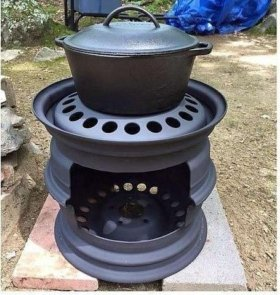 Печка из дисков