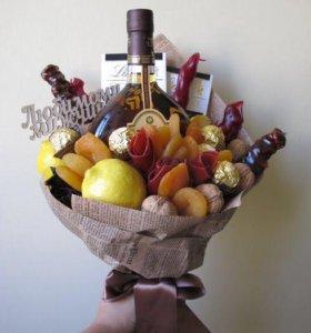 Букеты из фруктов,овощей и мужские