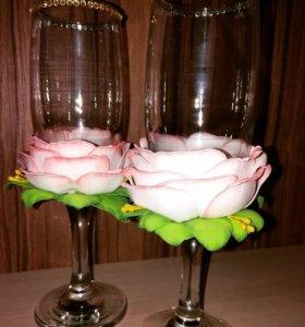 Свадебные бокалы для жениха и невесты!