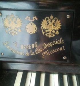 Пианино A. Oeberg, конец 19 века