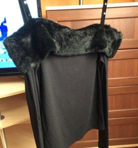 Новая нарядная кофта топ с мехом