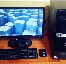 """двухъядерный компьютер HP+20""""led-монитор HP"""