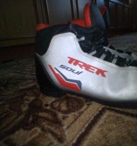 Лыжи с палками,ботинками