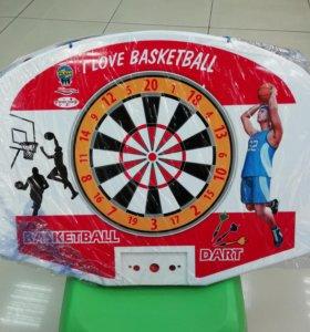 Баскетбольное кольцо с дартцем Pilsan (03-400)