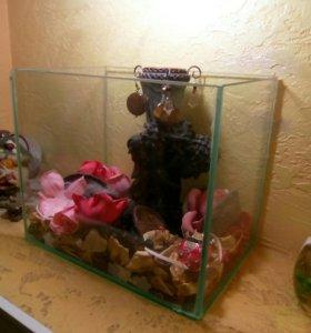 Ёмкость стеклянная аквариум 10 литров
