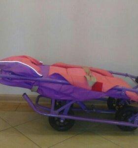 Санки-коляска 4 колеса