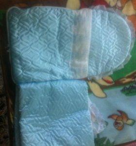 Конверт и одеяло на выписку из роддома