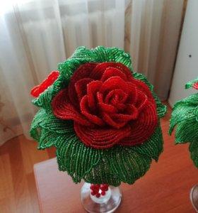 Роза. Бисер
