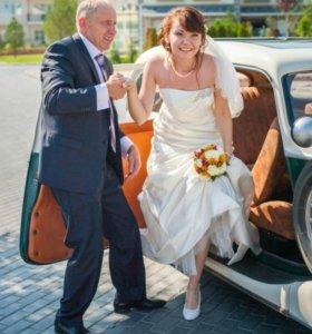 """Красивое свадебное платье цвета """"Шампань"""""""