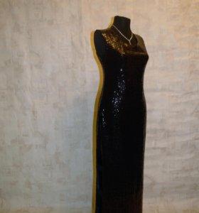 Платье темное золото