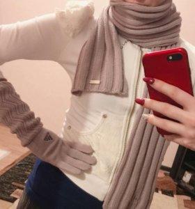 Набор новый adidas (шарф+перчатки) оригинал 1000%