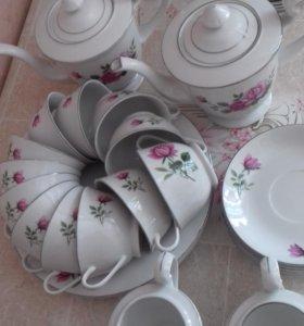 Чайный сервиз на 6 персон (16 предметов), Китай