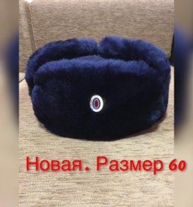 Новая зимняя шапка полицейского