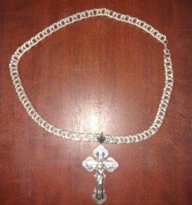 Крест на цепочке