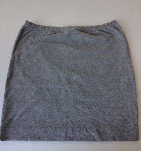 Новая трикотажная юбка р.44 хлопок тянется