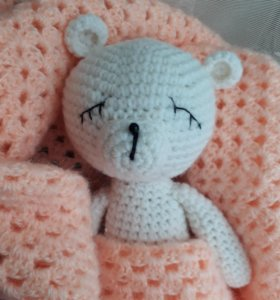 Медвежонок Сплюшка. Амигуруми.