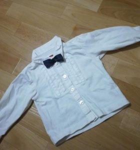 Белая рубашка с бабочкой, водолазка