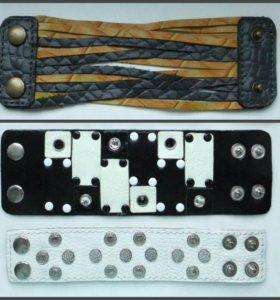 Дизайнерские браслеты из кожи