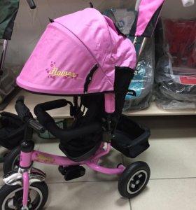 Велосипед детский трехколёсный (розовый), новый