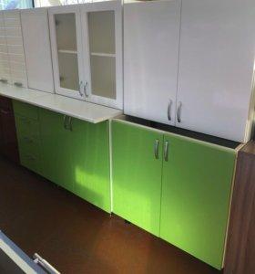 Кухня Шарлотта 2,0 (белый глянец/яблоко глянец )