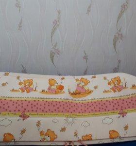 Бортики широкие в детскую кроватку
