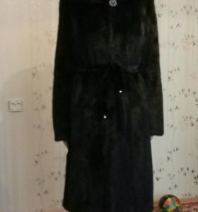 Шуба норковая (черная)