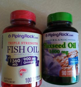 Омега 3 и льняное масло в капсулах