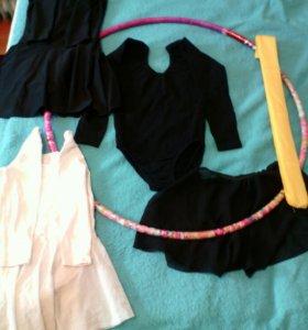 Комплект вещей на девочку для гимнастики на 6-8лет