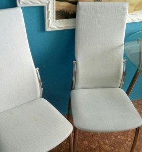 Стол кухонный стекло,стулья 2 шт.