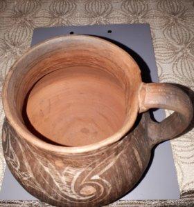 Кувшин глиняный старинный