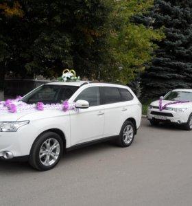 Кортеж на свадьбу из автомобилей Митсубиши